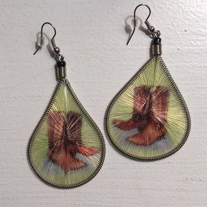 Cowgirl Threaded Teardrop Earrings